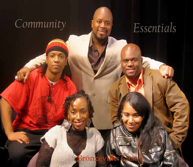 Host Nosakhere & the cast of Bronzeville